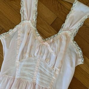 VIntage Late 40s Pink Nightgown Wedding Lingerie